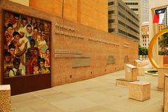 Mots de inspiration sur la place de thanksgiving, Dallas images libres de droits