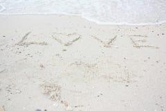 Mots de l'amour Photos libres de droits