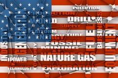 Mots de parent d'industrie du gaz de nature Photos stock