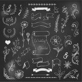 Mots de ralliement de craie, rubans, conception d'esperluètes illustration de vecteur