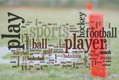 Mots de sports Images libres de droits