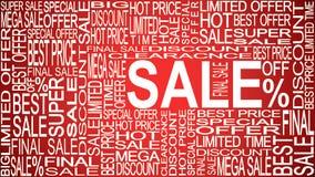 Mots de vente Ventes promotionnelles Stockez le concept de vente Image stock