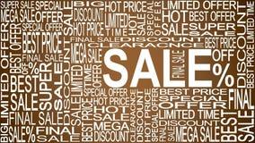 Mots de vente Ventes promotionnelles Stockez le concept de vente Images libres de droits