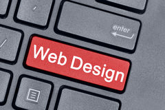Mots de web design sur le clavier image stock