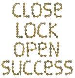 Mots des clés Image libre de droits