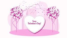 mots doux, une déclaration de l'amour Caractères pour Valentine Day illustration de vecteur