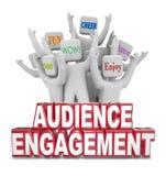 Mots encourageants de clientes de personnes d'engagement d'assistance illustration de vecteur