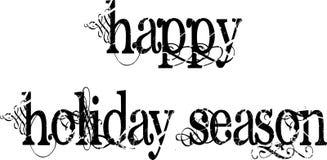 Mots heureux de saison des vacances illustration stock