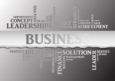 Mots relatifs de concept d'affaires en nuage de tags Vecteur Image stock