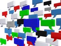 Mots sociaux de bulle de causerie de media Photos libres de droits