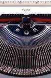 Mots sur la machine à écrire image libre de droits