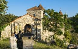 Motsameta monastry; Front Entree Foto de archivo libre de regalías