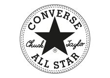 Motsats Chuck Taylor All Star Logo vektor illustrationer