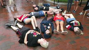 Motstå rörelse på Lafayette parkerar i Washington DC lager videofilmer