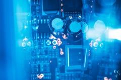 Motstånd för kondensator för elektroniska delar för Pcb arkivbilder