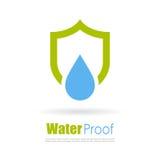 Motståndskraftig logo för vatten royaltyfri illustrationer