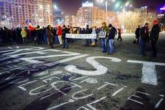 ` Motstår `-meddelandet, Bucharest, Rumänien Royaltyfri Bild