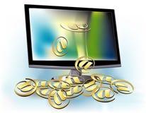 motta för e-post Arkivbild