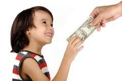 motta för pojkepengar Royaltyfria Foton