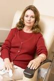 motta för stående för kemoterapi patient Arkivbilder
