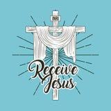 Motta jesus det sakrala arga religionsymbolet vektor illustrationer