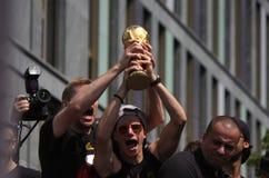 Mottagande för tyskt lag för fotbollvärldsmästare i Berlin Royaltyfria Bilder