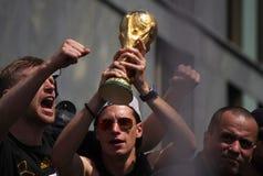 Mottagande för tyskt lag för fotbollvärldsmästare i Berlin Royaltyfri Bild