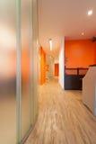 Mottagande och korridor, klinik royaltyfri fotografi