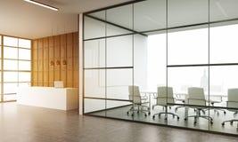 Mottagande och väntande rum i det New York kontoret Arkivbild