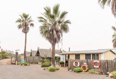Mottagandekontor av Tiger Reef Camping Site i Swakopmund Royaltyfri Bild