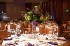 mottagandet tables bröllop Royaltyfri Fotografi
