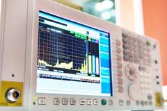 Mottagare för att mäta det elektromagnetiska fältet med skärm arkivfoto