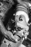 Mottagare för sida för bilmotorintag arkivfoto