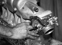 Mottagare för sida för bilmotorintag fotografering för bildbyråer
