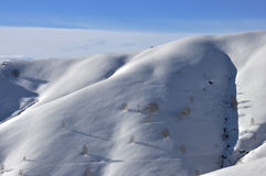 Mottarone winter landscape. Mottarone mountain winter landscape with snow Royalty Free Stock Images