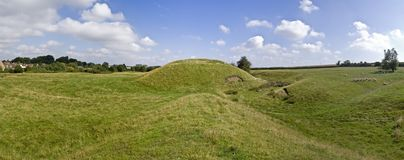 Motte and bailey castle Royalty Free Stock Photo