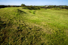 Motte de Castell Bryn-Gwryn Photos stock