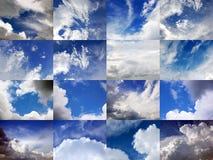 Mottes et cieux 2 Image libre de droits