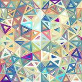 Mottled abstract triangles vector background Stock Photos