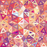 Mottled abstract triangles vector background Stock Images