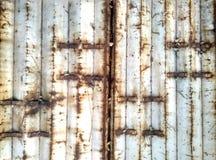 Mottled iron gate. Community warehouse white mottled iron doors Stock Photo