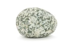 Mottled Stone. A mottled stone isolated on a white background Stock Photos