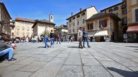 Motto kwadrat w Orta San Giulio, Włochy zbiory