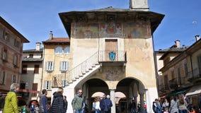 Motto kwadrat w Orta San Giulio, Włochy zbiory wideo