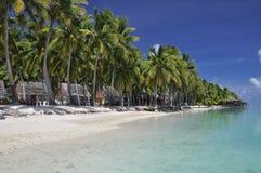 Motu Akitua in der Aitutaki Lagune - Koch-Inseln lizenzfreies stockbild