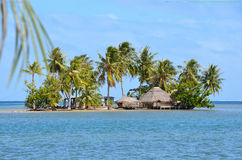 Motu in french polynesia Royalty Free Stock Photo