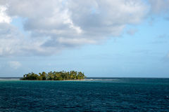Motu isalnd in Tahiti Royalty Free Stock Photo