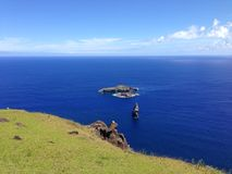 Motu Iti и Motu Nui Стоковые Фото