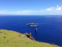 Motu Iti und Motu Nui Stockfotos