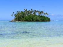 Motu One tropical island. Scenic view of Motu One tropical island, Society islands, French Polynesia Stock Image